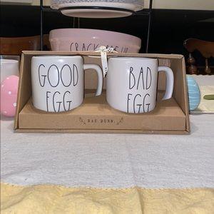 Rae Dunn mug set GOOD EGG AND BAD EGG🐣🐣